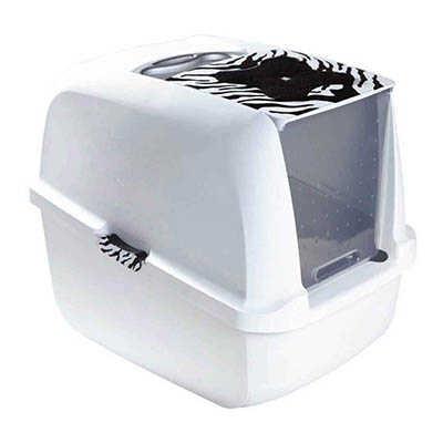 Catit Kapalı Kedi Tuvalet Kabini Kaplan Desenli