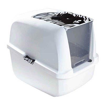Catit - Catit Kapalı Kedi Tuvalet Kabini Kaplan Desenli