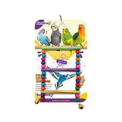 EuroBird Kuş Oyuncağı Boncuklu Merdiven - Thumbnail