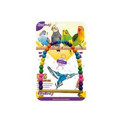 EuroBird Kuş Oyuncağı Boncuklu Oval Salıncak - Thumbnail