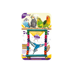 EuroBird Kuş Oyuncağı Dikdörten Salıncak - Thumbnail