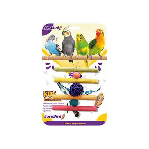 EuroBird Kuş Oyuncağı Dörtlü Tahta Merdiven