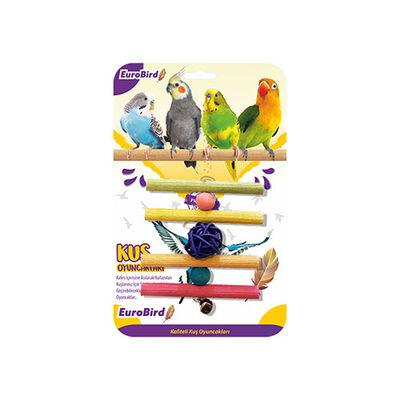 Eurobrid - EuroBird Kuş Oyuncağı Dörtlü Tahta Merdiven