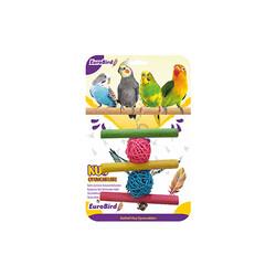EuroBird Kuş Oyuncağı Üçlü Tahta Merdiven - Thumbnail
