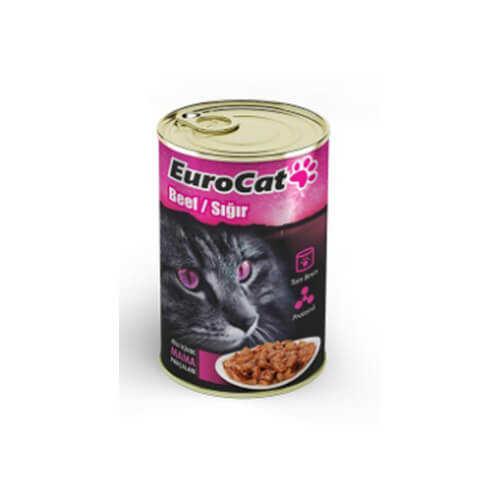 Eurocat Biftekli Yetişkin Kedi Konservesi