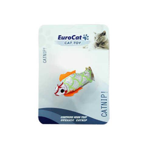 EuroCat Kedi Oyuncağı Yaldızlı Balık