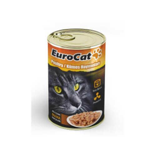 Eurocat Kümes Hayvanlı Yetişkin Kedi Konservesi