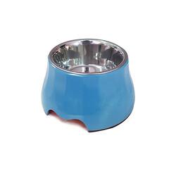 Eurodog - Eurodog Melamin/Çelik Mama Kabı Yükseltili 400 ml