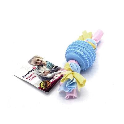 Eurodog - EuroDog Puppy Toys Mavi Tırtıklı Top Diş Kaşıma Oyuncağı