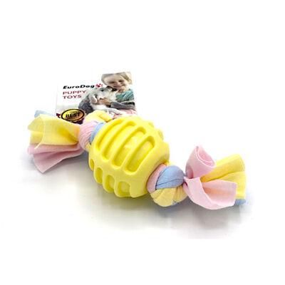 EuroDog Puppy Toys Sarı Ufak Top Diş Kaşıma Oyuncağı
