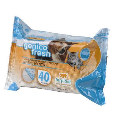 Ferplast Genico Fresh Kedi Köpek Deniz Parfümlü Temizlik Mendili