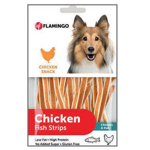 Flamingo Chicken Balık Etli Uzun Sandviç Köpek Ödülü