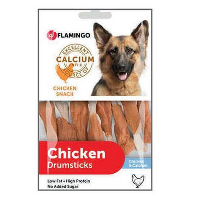 Flamingo Chicken Kalsiyumlu Et Sargılı Kemik Köpek Ödülü