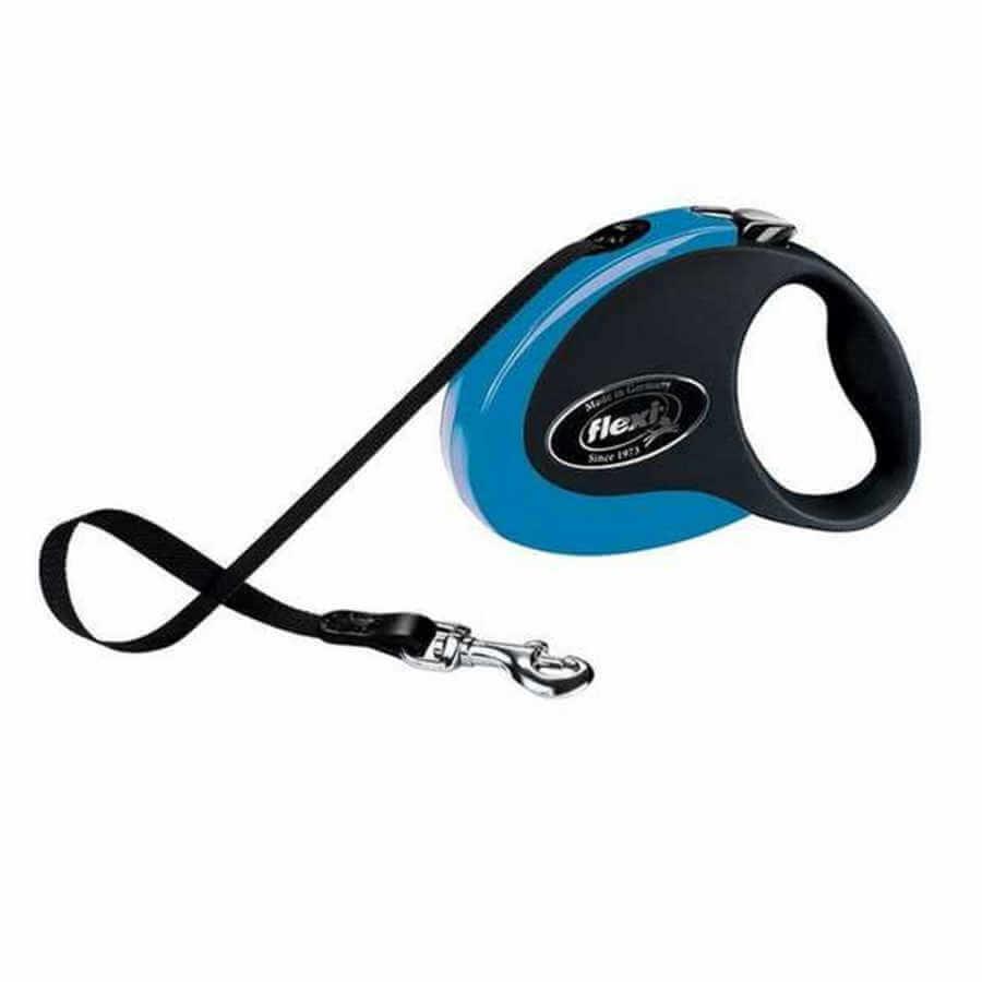 Flexi Collection Otomatik Köpek Gezdirme Tasması Mavi