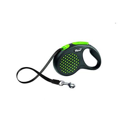 Flexi Design Otomatik Şerit Köpek Gezdirme Tasması Yeşil