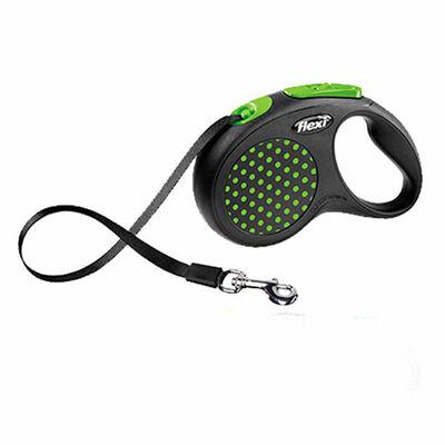 Flexi - Flexi Design Şerit Otomatik Köpek Gezdirme Tasması Yeşil