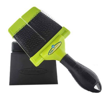 Furminator - Furminator Büyük Çift Taraflı Fırm Slicker Brush Fırça