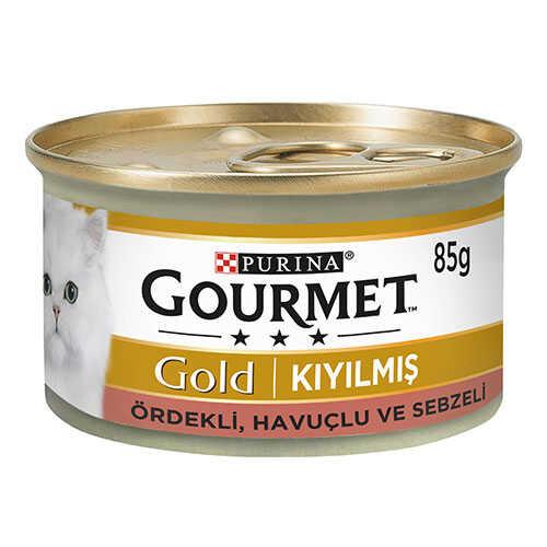 Gourmet Gold Kıyılmış Ördekli Sebzeli Yetişkin Kedi Konservesi