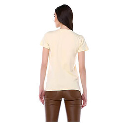 Haytap Bej Kadın Basic Tişört - Thumbnail