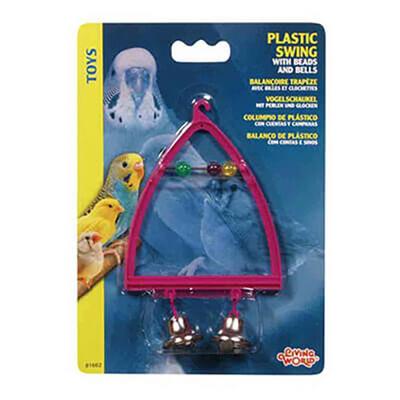 Living World - Lıvıng World Plastik Zilli Tünek