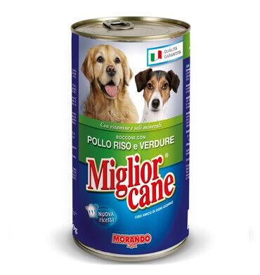 Miglior Cane Tavuklu Prinçli Ve Sebzeli Yetişkin Köpek Konservesi