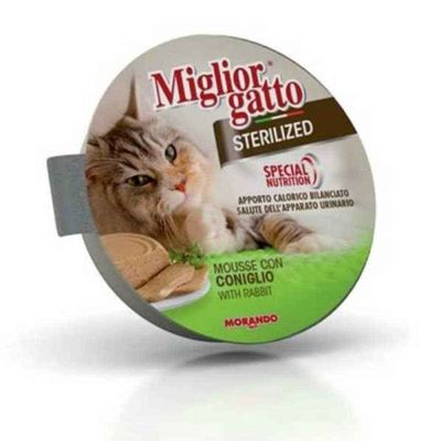 Miglior - Miglior Gatto Sterilised Mousse Tavşanlı Kısır Kedi Konservesi