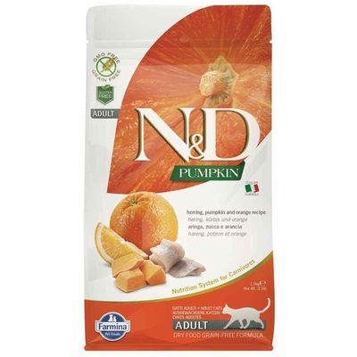 N&D - N & D Balkabaklı Balıklı Portakallı Yetişkin Kedi Maması