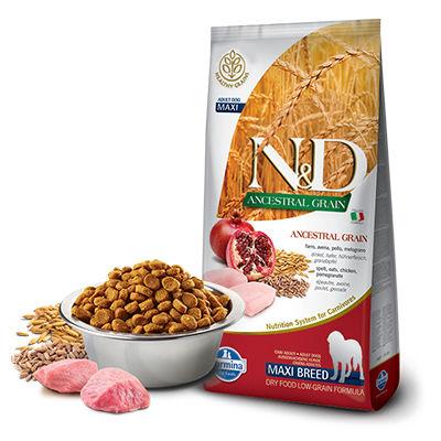 N&D - N&D Düşük Tahıllı Tavuk & Narlı Büyük Irk Yetişkin Köpek Maması