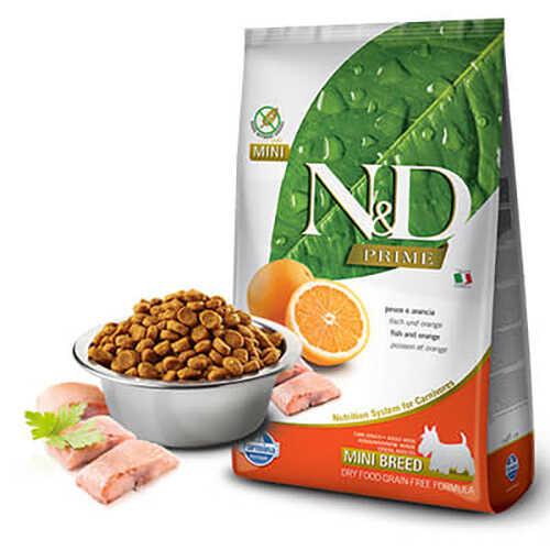 N&D Balıklı Portakallı Küçük Irk Yetişkin Köpek Maması