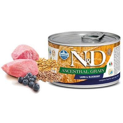 N&D - N&D Low Grain Kuzulu Yaban Mersinli Küçük Irk Yetişkin Köpek Konservesi