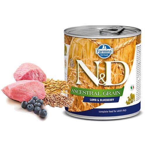 N&D Low Grain Kuzulu Yaban Mersinli Yetişkin Köpek Konservesi