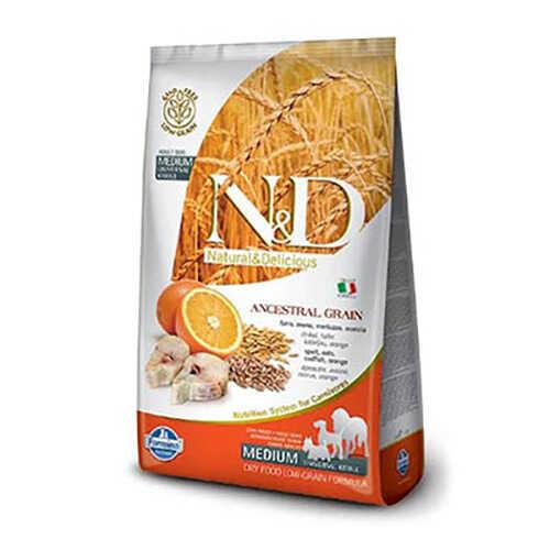 N&D Natural Delicious Düşük Tahıllı Morina Balıklı Portakallı Yetişkin Köpek Maması