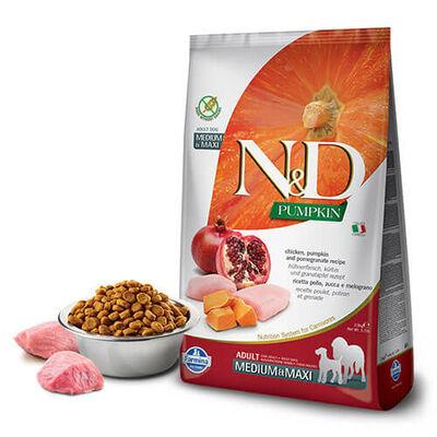 N&D Pumpkin Tahılsız Bal Kabaklı, Tavuk Etli Ve Narlı Orta Ve Büyük Irk Yetişkin Köpek Maması