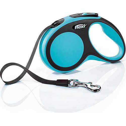 New Comfort Otomatik Köpek Gezdirme Tasması Şerit Mavi