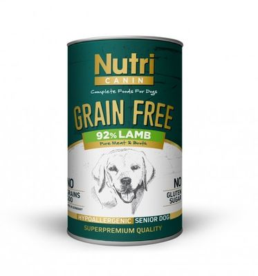 Nutri - Nutri Canin Tahılsız Senior Lamb Sweet Potatoes Köpek Konservesi