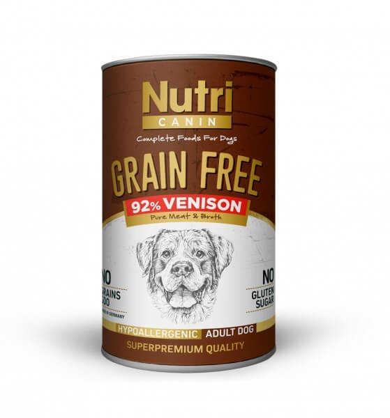 Nutri Canin Tahılsız Venison Sweet Potatoes Yetişkin Köpek Konservesi