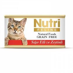 Nutri - Nutri Feline Tahılsız Sığır Etli Zeytinli Yetişkin Kedi Konservesi