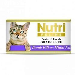 Nutri - Nutri Feline Tahılsız Tavuk Etli Hindili Yetişkin Kedi Konservesi