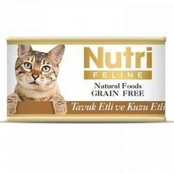 Nutri - Nutri Feline Tahılsız Tavuk Etli Kuzulu Yetişkin Kedi Konservesi