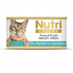 Nutri - Nutri Feline Tahılsız Ton Balık Sardalyalı Yetişkin Kedi Konservesi