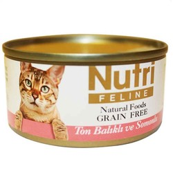 Nutri - Nutri Feline Tahılsız Ton Balıklı Somonlu Yetişkin Kedi Konservesi