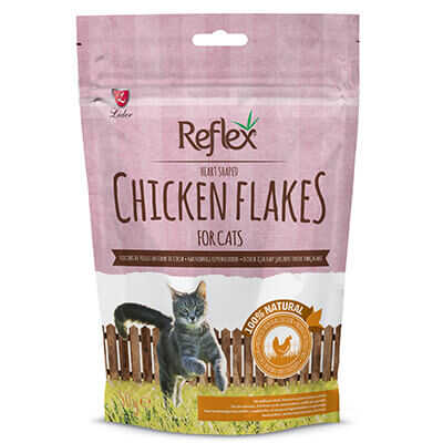 Reflex Kalp Şeklinde Tavuk Parçalı Kedi Ödülü