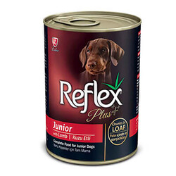Reflex Plus - Reflex Plus Pate Kuzulu Et Parçacıklı Yavru Köpek Konservesi