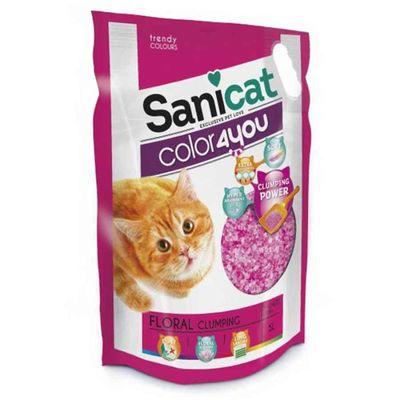SaniCat - Sanicat Color Çiçek Kokulu Kristal Silica Kedi Kumu