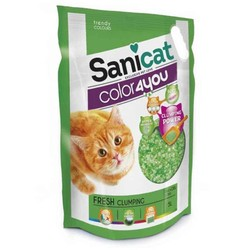 SaniCat - Sanicat Color Fresh Parfümlü Kristal Silica Kedi Kumu