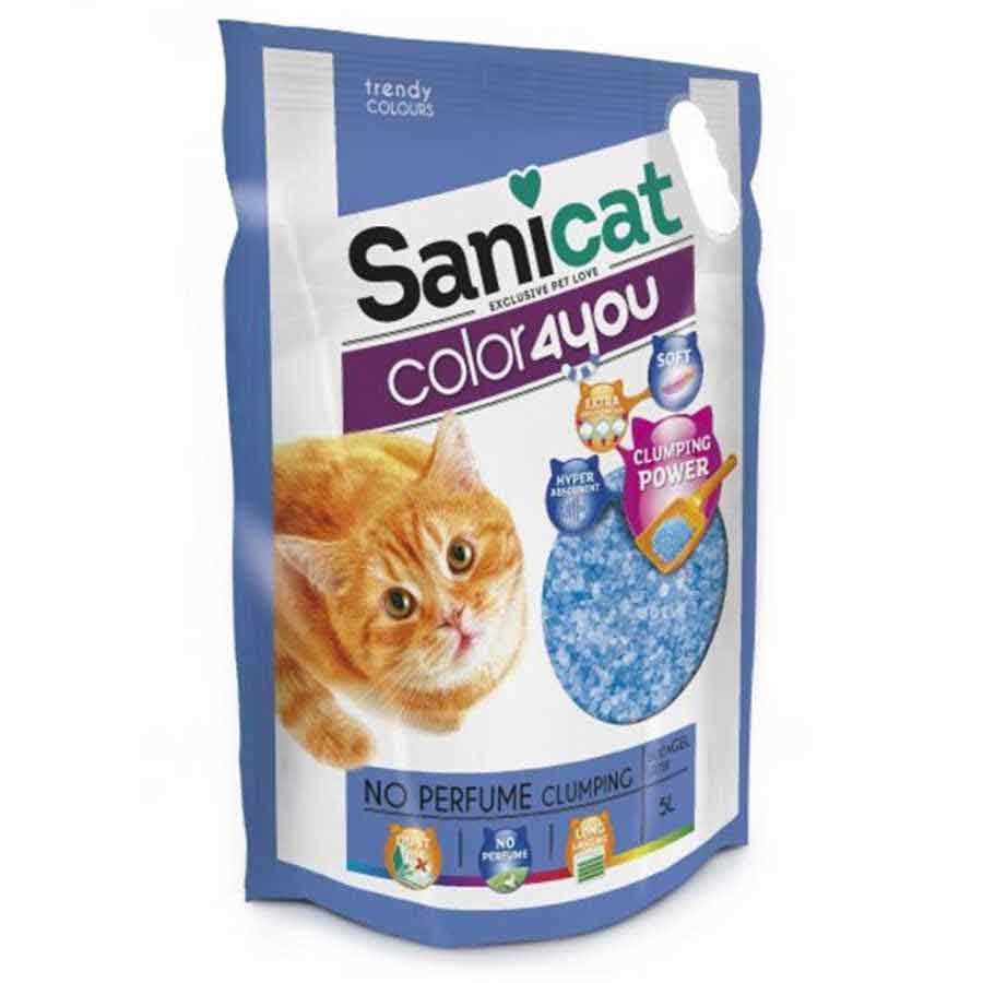 Sanicat Color Parfümsüz Kristal Silica Kedi Kumu