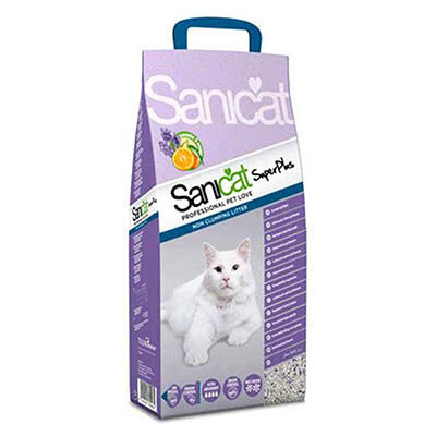 SaniCat - Sanicat Super Plus Lavanta Ve Portakal Kokulu Doğal Kedi Kumu