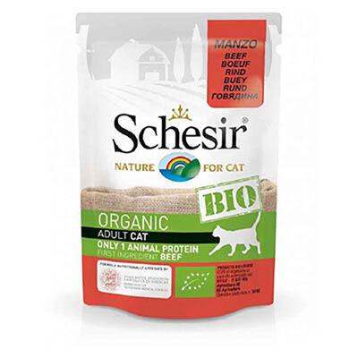 Schesir - Schesir Bio Range Biftekli Pouch Yetişkin Kedi Konservesi