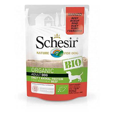Schesir Bio Range Biftekli Pouch Yetişkin Köpek Konservesi