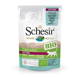 Schesir - Schesir Bio Range Tavuklu Pouch Yavru Kedi Konservesi